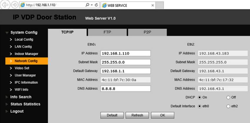 modificare adresa IP