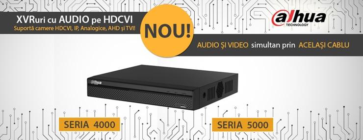XVR S2 cu audio pe HDCVI