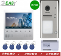 Kit videointerfon color 2 fire cu control acces RFID, 2Easy DT607ID-DT472