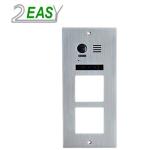 Post de exterior videointerfon 2Easy DMR21-F2,  modular cu doua locasuri blank