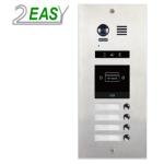 Post de exterior videointerfon 2Easy DMR21-S4-F1 , modular, 4 butoane de apel si un locas blank