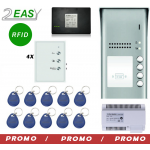 Kit interfon audio pe 2 fire cu control acces RFID, 2Easy DT607ID-DJ7A
