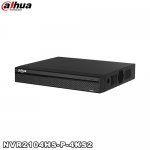 NVR 4 canale video IP, 4 porturi PoE, 8MP, Dahua NVR2104HS-P-4KS2