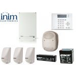 Sistem de alarma 5 zone 5 partitii, INIM SmartLiving 515 KIT4