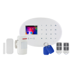 Kit alarma wireless, comunicatie GSM, WIFI, RFID EM 125 kHz KR-W20