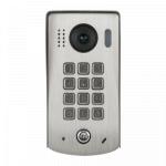 Post exterior videointerfon cu tastatura metalica, acces cu cod si camera FISHEYE, DT611-MK-FE