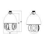 Schema speed-dome IP Dahua SD6AW220-HNI