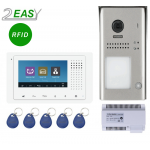Kit videointerfon color 2 fire cu control acces RFID, 2Easy DT607ID-DT433