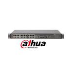 Switch cu 24+4 porturi PoE, 4000 MAC, 1000 Mbps, cu management, Dahua PFS4226-24ET-240