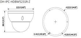 Dimensiuni Dahua IPC-HDBW5231R-Z