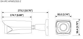 Dimensiuni Dahua IPC-HFW5231E-Z