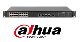 Switch cu 16+4 porturi PoE, 4000 MAC, 1000 Mbps, cu management, Dahua PFS4218-16ET-190