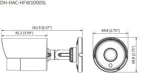 Schema - dimensiuni Dahua HAC-HFW1000SL