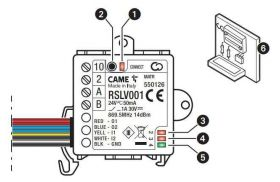 Modul slave pentru automatizari CAME RSLV001 806SA-0040