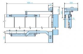 Amortizor pentru porti EN 1 max. 25 kg, OMEGA, MAB 620C