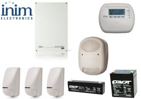 Sistem de alarma 5 zone 5 partitii, INIM SmartLiving 515 + XDT200H