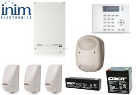 Sistem de alarma 5 zone si 5 partitii, INIM SmartLiving 515 + ARIA/HG