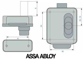 Assa Abloy 5016 - schema-dimensiuni