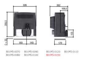 Motoreductor poarta culisanta max.1200 Kg,  801MS-0080