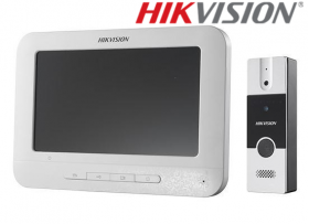 "Kit videointerfon analogic 7"", conectare 4 fire, HIKVISION DS-KIS202"