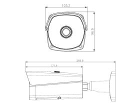 Schema - dimensiuni Dahua TPC-BF5600-T35