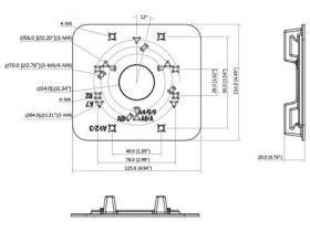 Suport pentru montare pe stalp, Dahua PFA152-E