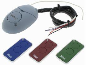 Kit sistem de comanda cu receptor si 3 telecomenzi pentru automatizarile Nice, INTI KIT