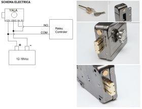Yala electromagnetica aplicabila cu motor, senzor magnetic si led de stare, SX-10