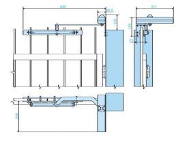 Amortizor pentru porti EN 1-3 max. 65 kg, OMEGA, MAB 680C