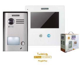 Video interfon digital pe 2 fire pentru o familie, Fermax 1/WAY Kit SLIM