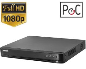 DVR 8 canale, Turbo HD, 6MP, PoC, Hikvision DS-7208HQHI-K2-P