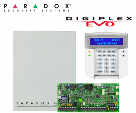 Centrala alarma adresabila 192 zone si 8 partitii Paradox Digiplex EVO192 + K641+