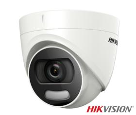 Camera de supraveghere Turbo HD, ColorVU, 2MP, IR 20m, Hikvision DS-2CE72DFT-F