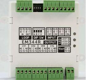 Modul adresabil 4 intrari / 4 iesiri pe releu protocol Enea, INIM - EM344R