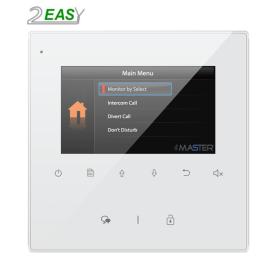 "Monitor videointerfon hands-free si ecran color LCD de 4.3"" pe 2 fire, 2Easy DT43-D4"