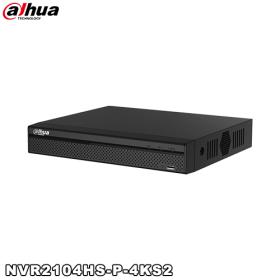 NVR 4 canale video IP, 4 porturi PoE, 8MP, Dahua NVR2104HS-P-4KS2