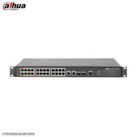 Switch 24 porturi PoE + 4 porturi Combo, Dahua, PFS4226-24ET-360