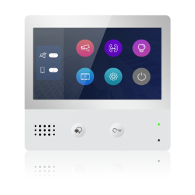 """Monitor videointerfon digital pe 2 fire, cu ecran de 7""""  touchscreen, DT471-TD7"""