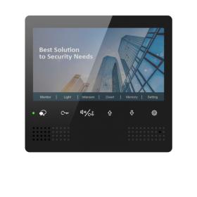 """Monitor videointerfon digital pe 2 fire, cu ecran de 7"""" si taste sensibile la atingere, DT472-D7(RO)"""