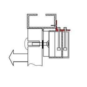 Suport in forma de Z si L pentru montarea electromagnetilor, MBL-180NZL