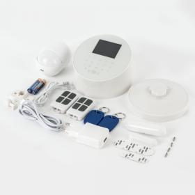 Kit alarma wireless, comunicatie GSM, WIFI, PSTN, 99 zone KR-W2