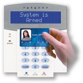 Tastatura LCD 32 zone cu cititor card, Paradox K641R