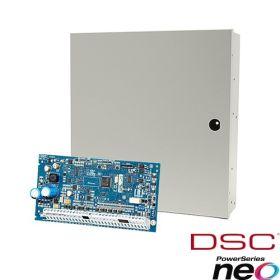 Centrala sistem alarma cu 8 zone extensibila la 64 zone, 8 partitii, DSC NEO-2064NK