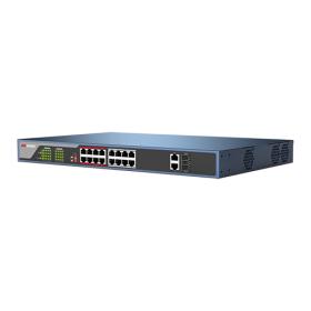Switch 16 porturi PoE, Hikvision DS-3E0318P-E