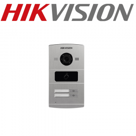 Panou exterior videointerfon TCP/IP pentru 2 familii, control acces integrat - HIKVISION, DS-KV8202-IM