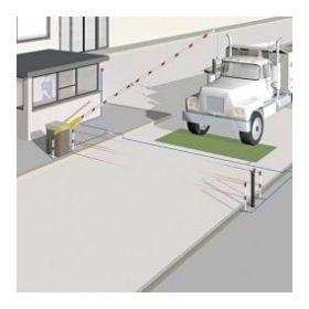 Bariera auto stradala cu bara de 12m, Came Gard 12