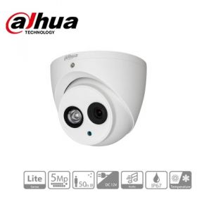 Camera supraveghere video HDCVI cu audio, 5MP, IR 50m, DAHUA HAC-HDW1500EM-A