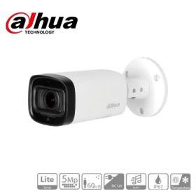 Camera supraveghere video HDCVI cu audio, 5MP, IR 60m, Dahua HAC-HFW1500R-Z-IRE6-A