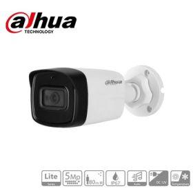 Camera de supraveghere HDCVI cu audio, 5MP, IR 80m, DAHUA HAC-HFW1500TL-A