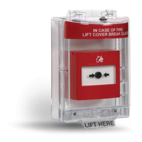 Carcasa transparenta impermeabila pentru butoane de incendiu, INIM, IACPP10